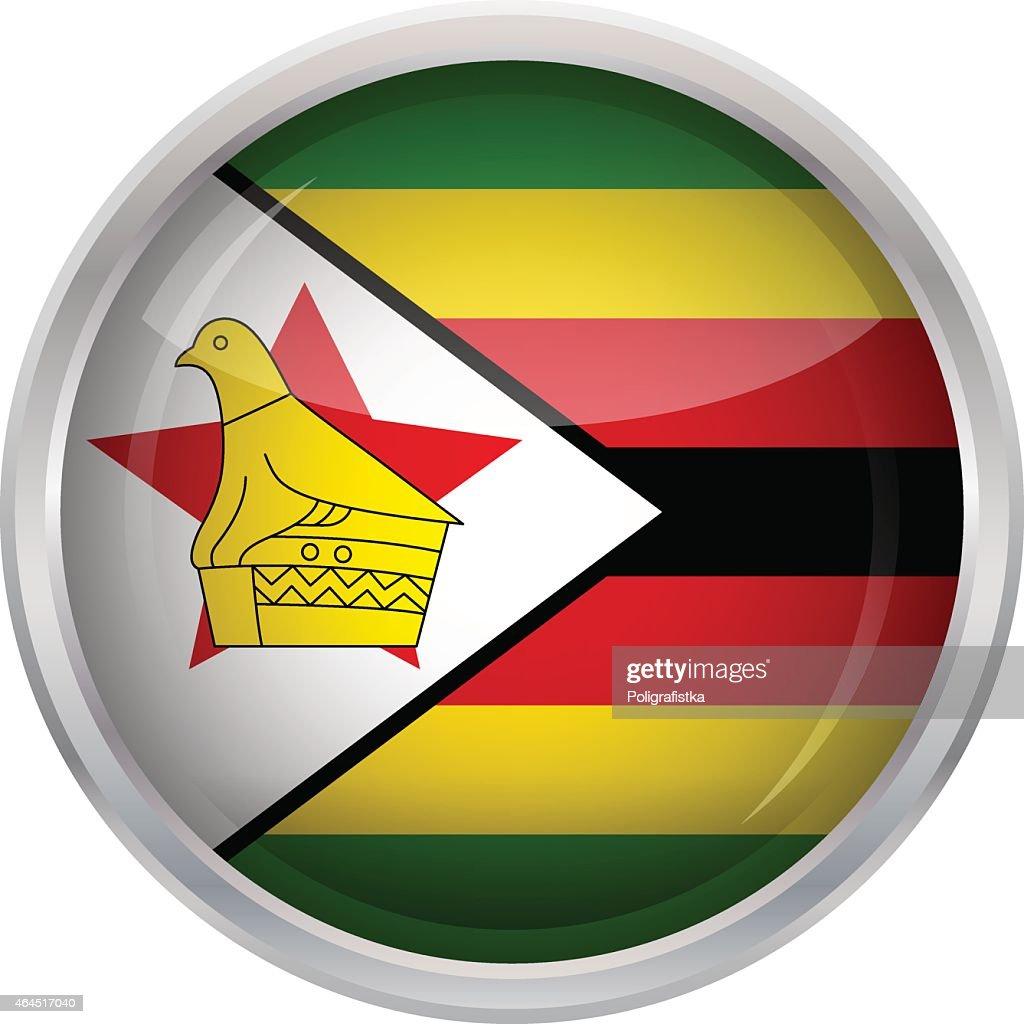 Flag of Zimbabwe : stock illustration