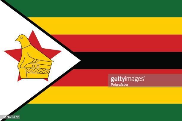 ilustrações, clipart, desenhos animados e ícones de bandeira de zimbabué  - zimbabwe