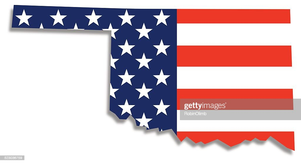 Usa Flag Oklahoma Map Vector Art Getty Images