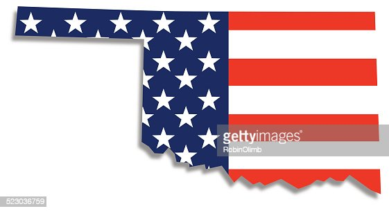 Usa Flag Oklahoma Map Vector Art Getty Images - Oklahoma in us map