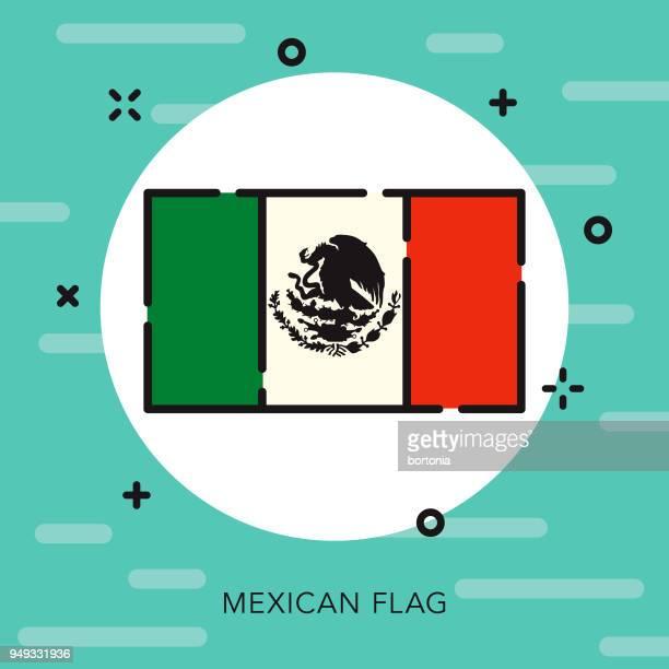 Bandera icono de Cinco de Mayo de contorno abierto