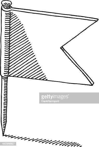 Fahne Pin Zeichnung