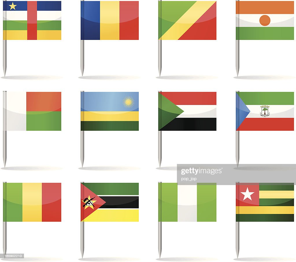 Flag pins - Africa