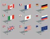 Flag Pins - G8