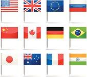 Flag pins - most popular