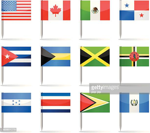 Bandera contactos-North y América Central