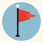 Flag pole icon