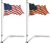 Flag Pole US WWI-WWII (48 stars) Ensign