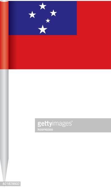 flag samoa - samoa stock illustrations, clip art, cartoons, & icons
