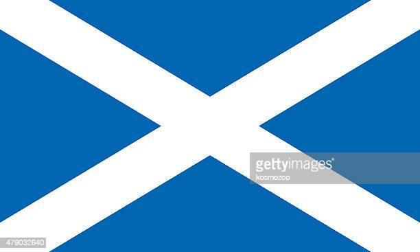 flag scotland - all european flags stock illustrations