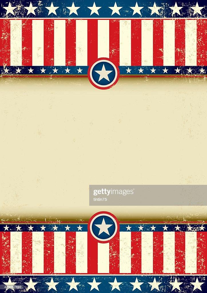 US flag scratched