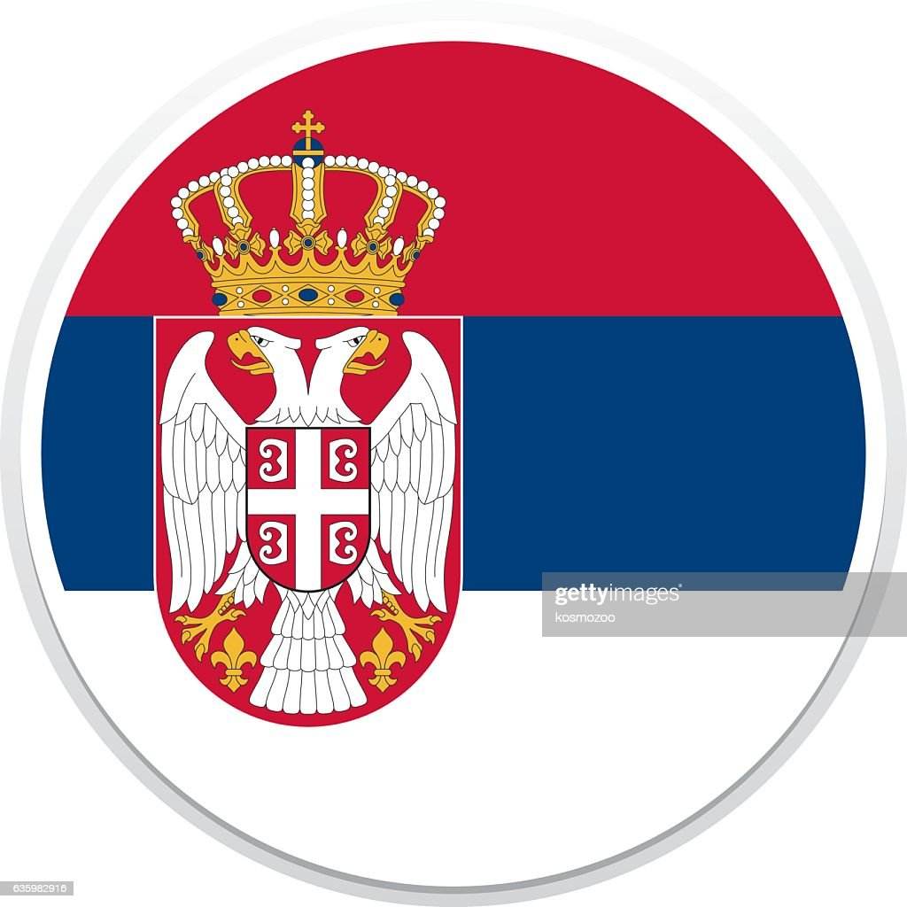 Flag Serbia : stock illustration