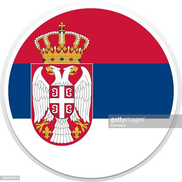 ilustrações, clipart, desenhos animados e ícones de bandeira da sérvia - sérvia