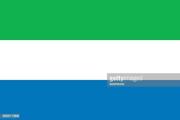 flag sierra leone - sierra leone stock illustrations