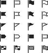 Flag Silhouette Icons