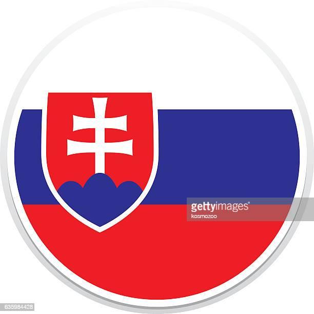ilustrações de stock, clip art, desenhos animados e ícones de bandeira da eslováquia - eslováquia