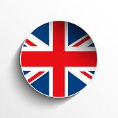 UK Flag Sticker Button