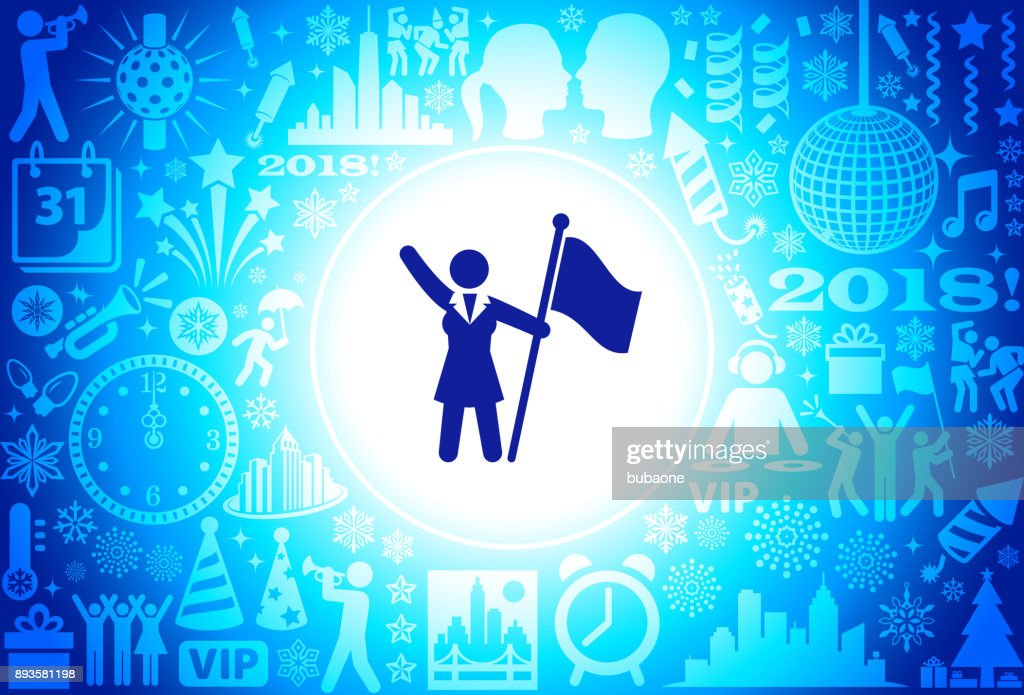flag stickfigure new year holiday background pattern vector art
