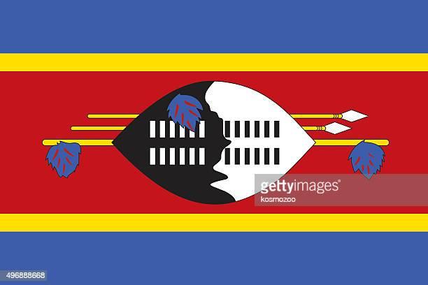 flag swaziland - eswatini stock illustrations, clip art, cartoons, & icons