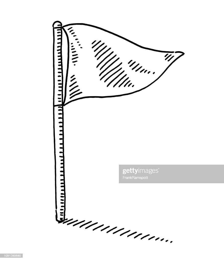 Flagge Symbol Zeichnung : Stock-Illustration