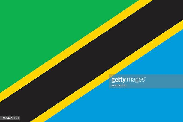 flag tanzania - tanzania stock illustrations
