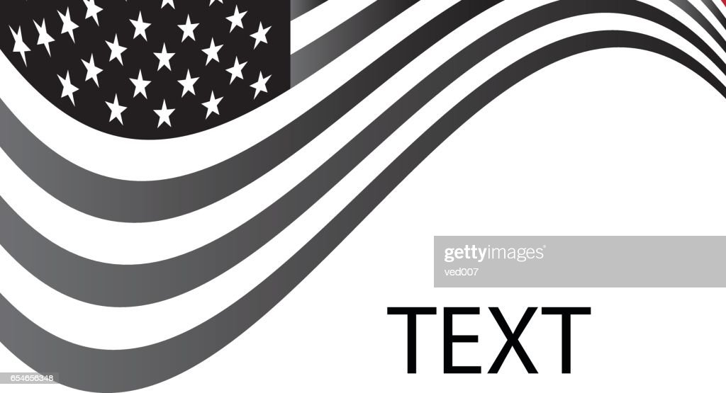 USA Flag Text Write Background grayscale