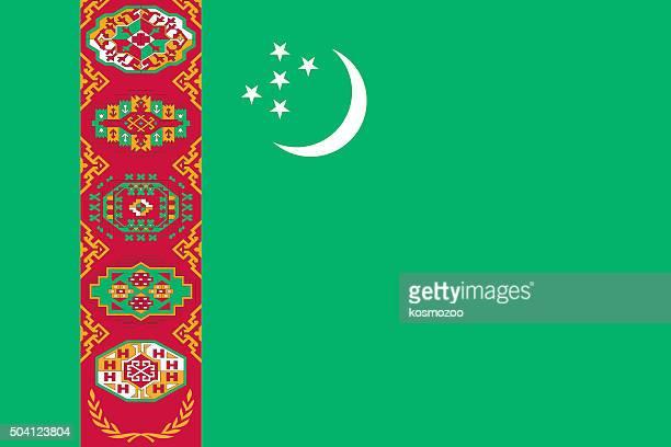 トルクメニスタンフラグ - トルクメニスタン点のイラスト素材/クリップアート素材/マンガ素材/アイコン素材