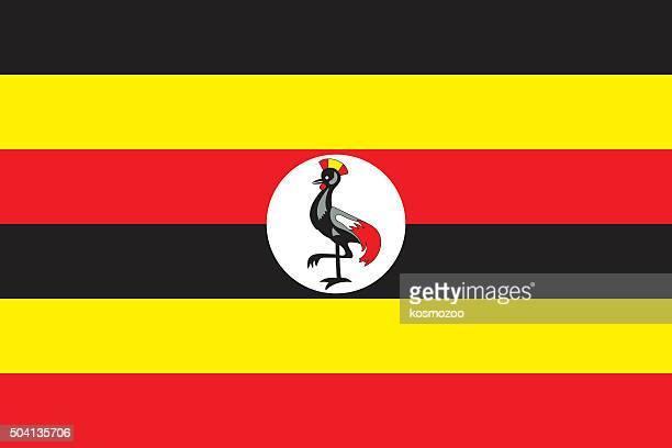 flag uganda - uganda stock illustrations, clip art, cartoons, & icons