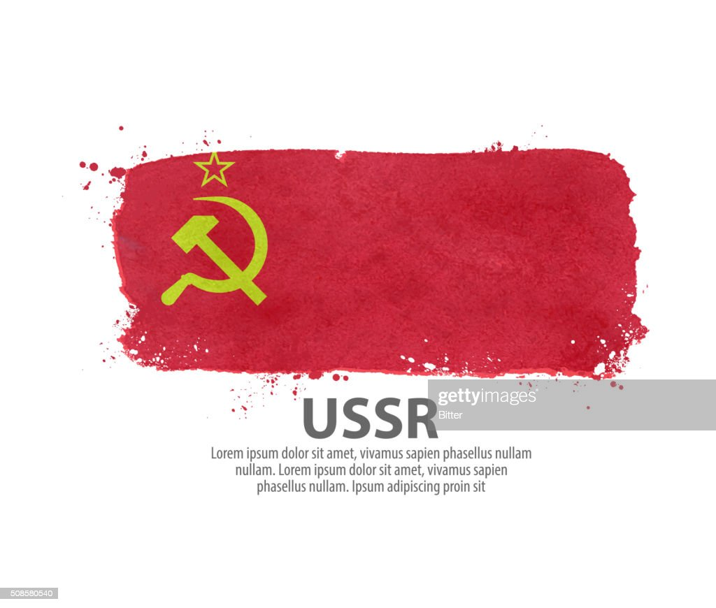 flag USSR, Russia. vector illustration : Vector Art