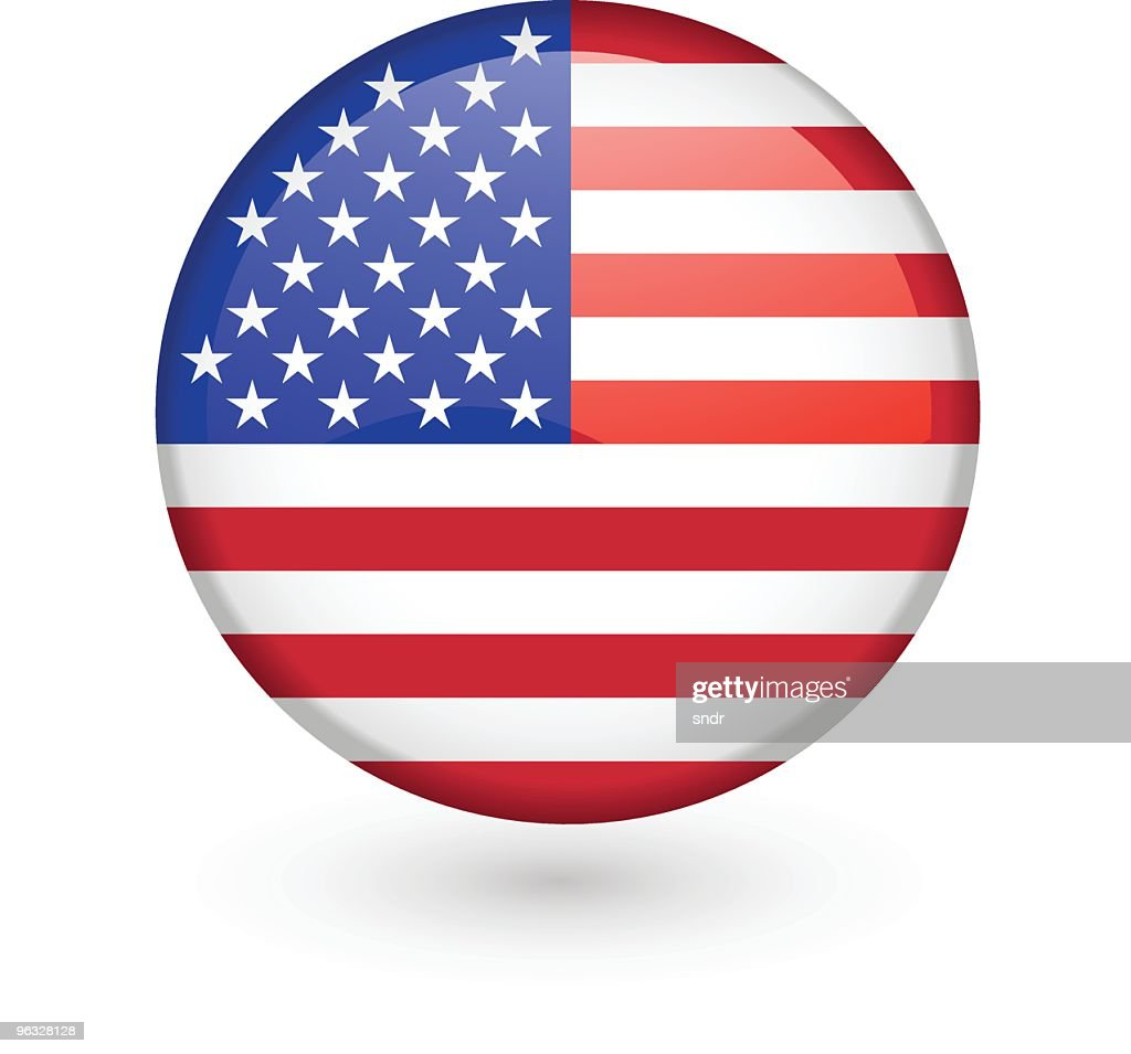 US flag vector button
