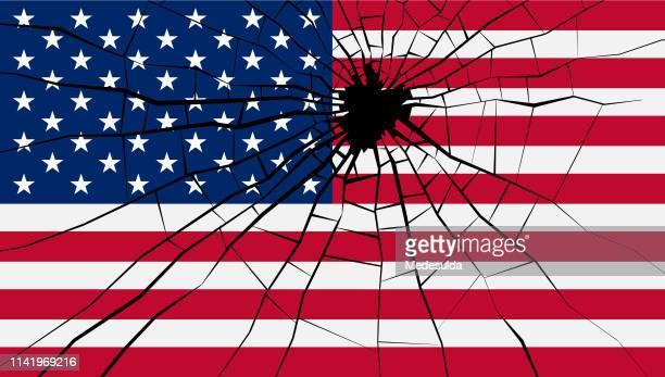 アメリカ国旗 - ターゲット射撃点のイラスト素材/クリップアート素材/マンガ素材/アイコン素材