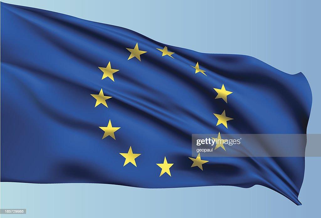 EU Flag : stock illustration