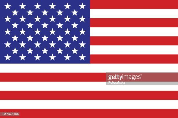 us flag - werkzeug stock illustrations