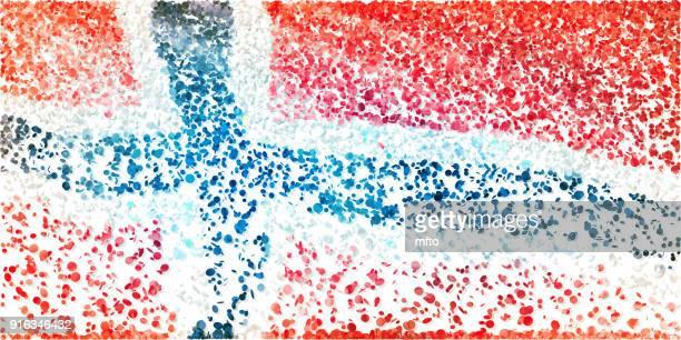 flagge - norwegische flagge stock-grafiken, -clipart, -cartoons und -symbole