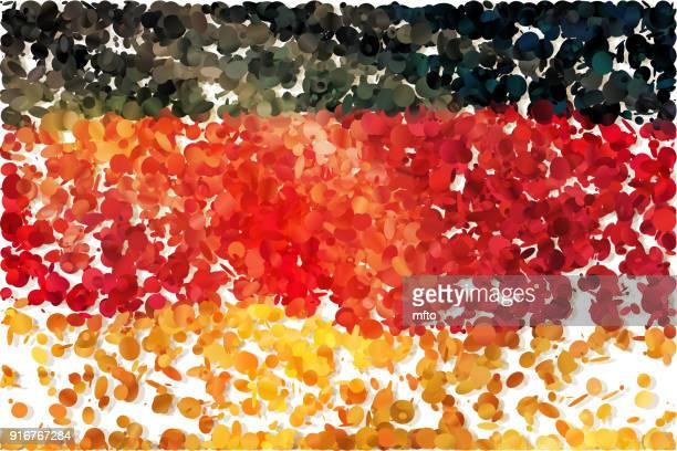 flagge - deutsche flagge stock-grafiken, -clipart, -cartoons und -symbole