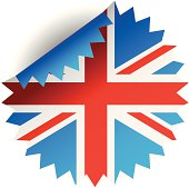 UK flag vector patch