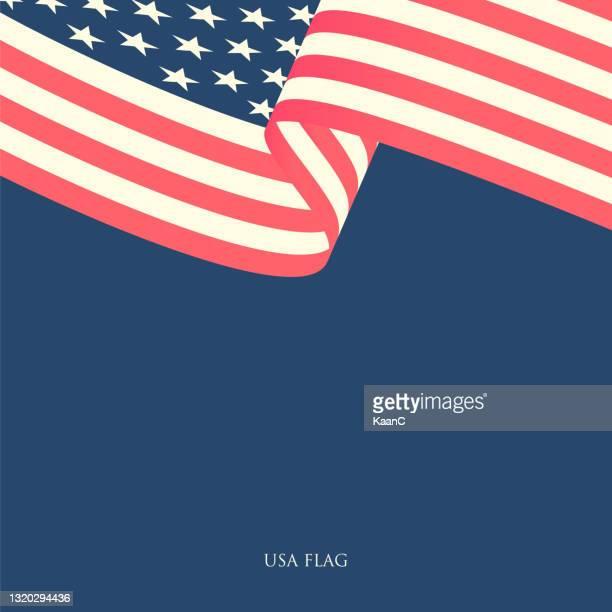 usa flag waving on blue background. stock illustration - us president stock illustrations