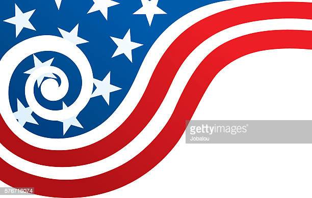 usa flag with spiral wave - us navy stock illustrations, clip art, cartoons, & icons