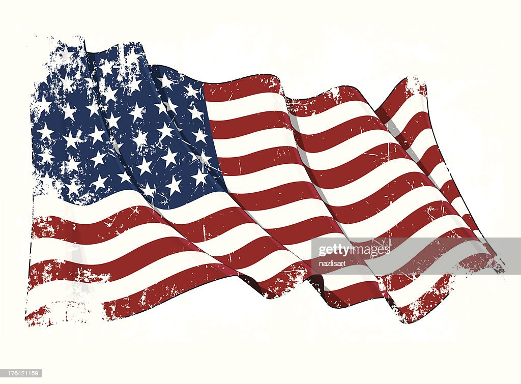 US Flag WWI-WWII (48 stars) Grunge