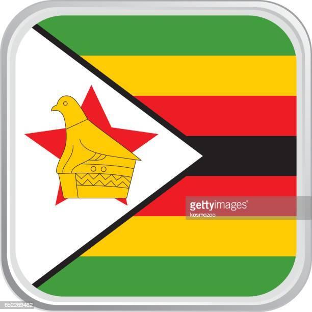 flag zimbabwe - zimbabwe stock illustrations, clip art, cartoons, & icons