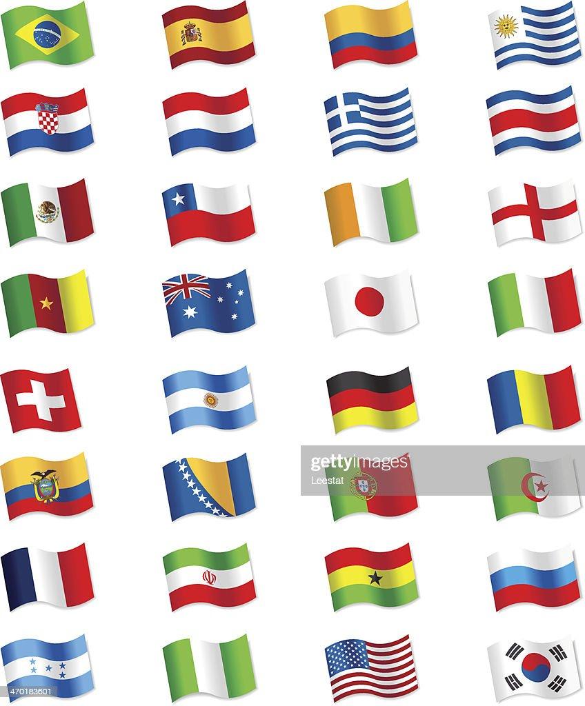 Flags 2014 Brazil