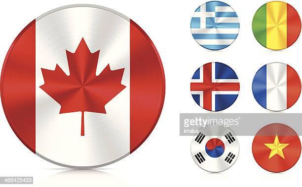 flags   aluminium icons set - mali stock illustrations, clip art, cartoons, & icons