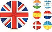 Flags   Aluminium icons set