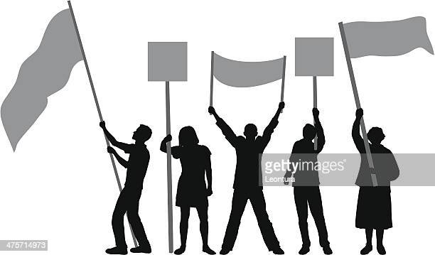 flags and banners - holding stock illustrations, clip art, cartoons, & icons