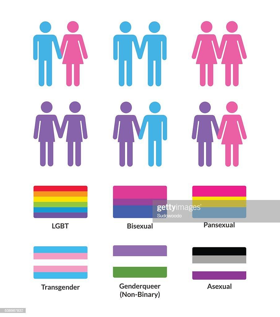 LGBT flags and symbols set