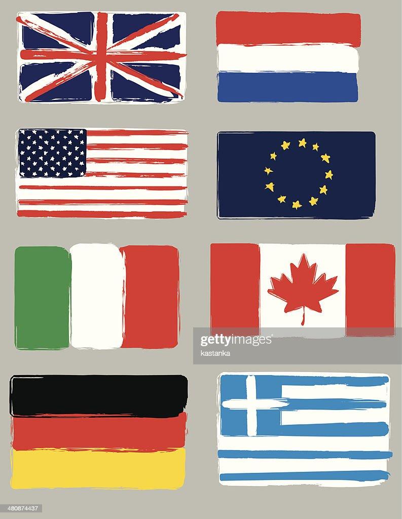 Flags brush