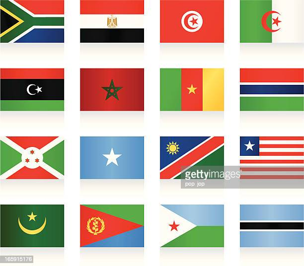 Flags collection - Africa