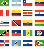 Flags collection - South and Central America