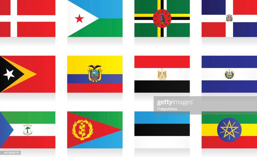 Flags - 'D', 'E'
