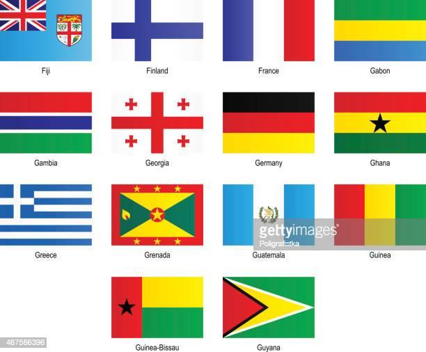 "flags - ""f"", ""g"" - ghana flag stock illustrations, clip art, cartoons, & icons"